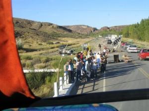 Straßenblokade der Lehrergewerkschaft